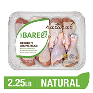Just BARE Natural Fresh Chicken Drumsticks | Family Pack | Antibiotic Free | Bone-In | 2.25 LB