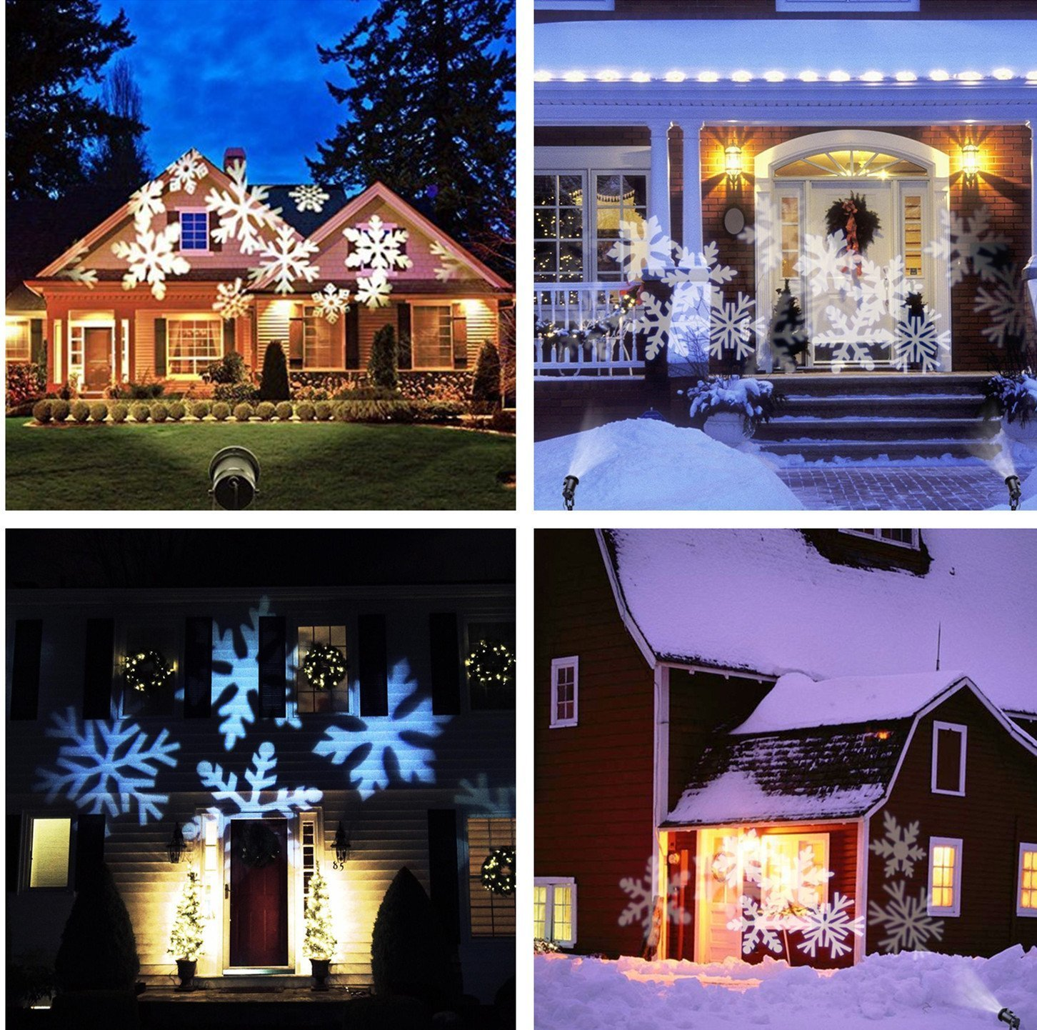 Christmas Projector Lights, JELEGANT LED Landscape Lights Projector Spotlights with Remote Control Waterproof Decoration Lighting with 12pcs Switchable Pattern Show for Halloween Holiday Party by JELEGANT (Image #6)