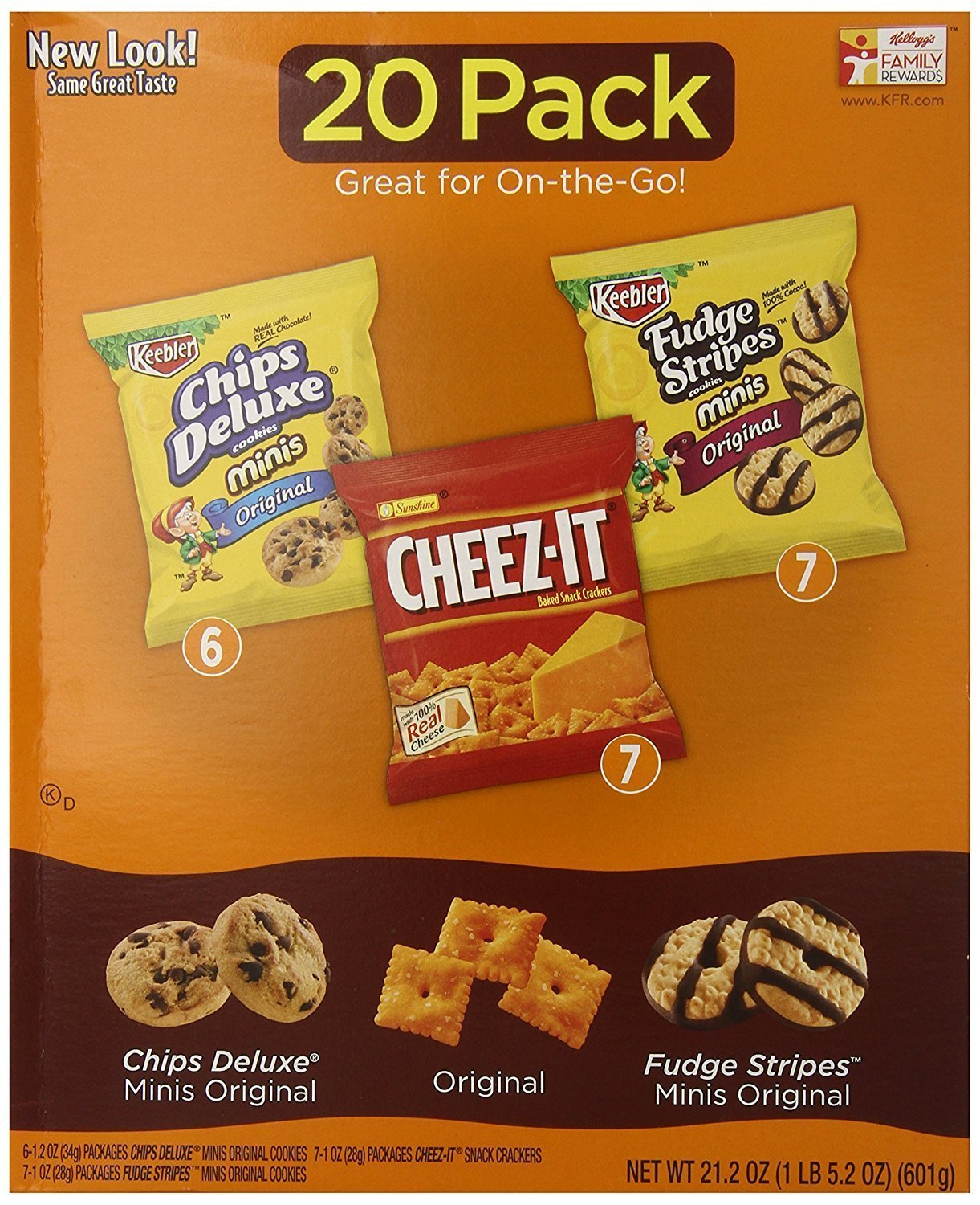 Keebler Cookie and Cheez-It Variety Pack (20-Count) (Packaging May Vary)