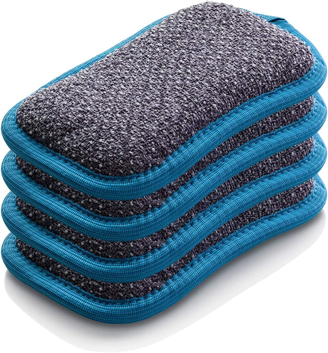 E-Cloth Microfiber Dual Purpose Washing Up Pad, Blue, 4 Count