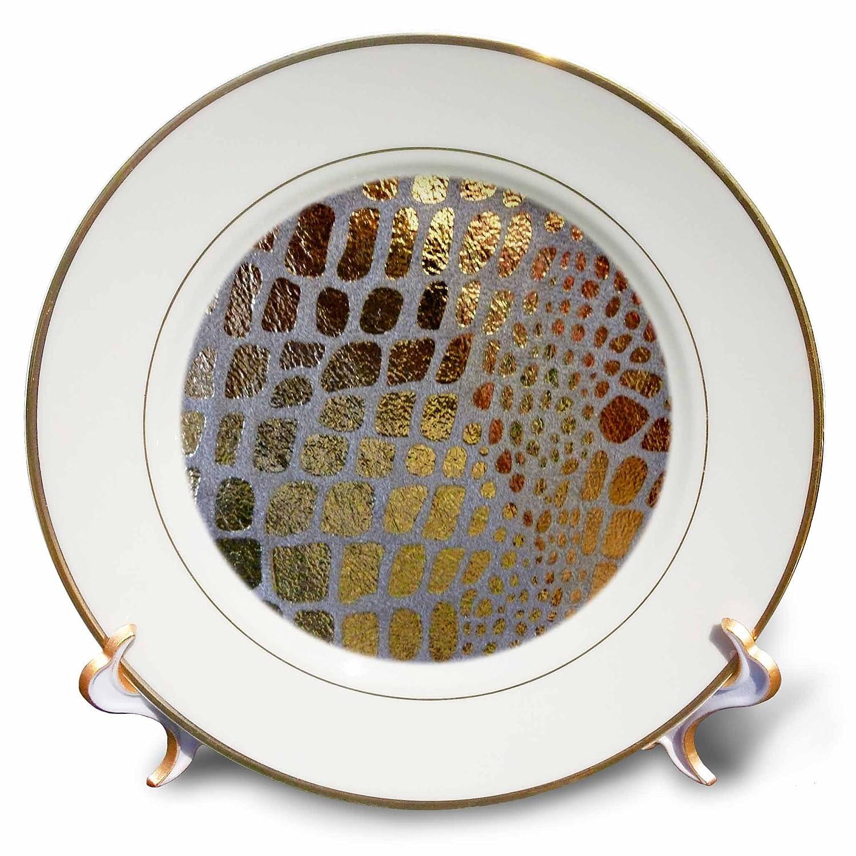 8-Inch 3dRose cp/_29714/_1 Giraffe Gold-Porcelain Plate