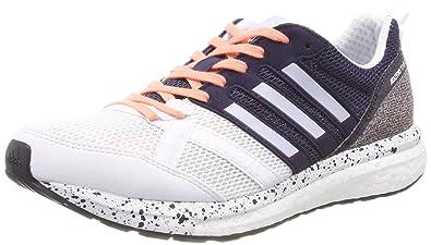 adidas Damen Adizero Tempo 9 Traillaufschuhe, Weiß (Ftwbla/Aeroaz/Negbas 000), 43 1/3 EU
