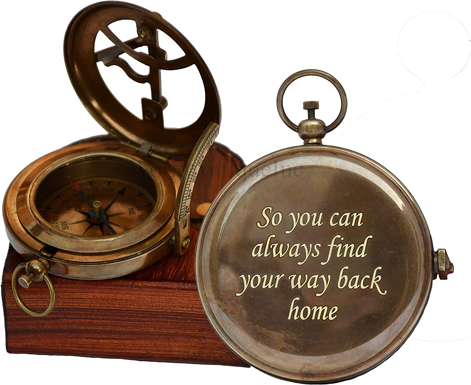 Engraved So You Can Always Find Your Way Back Home Compass for Confirmation Gifts, Baptism Gifts, Best Easter, Birthday Gifts, Wedding Gifts, Religious Gifts for Men