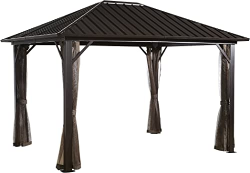 Sojag 12' x 16' Genova Hardtop Gazebo 4-Season Outdoor Shelter