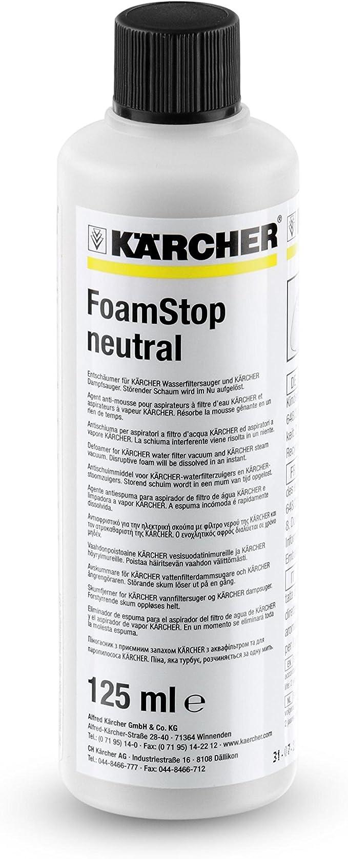 Kärcher FoamStop neutral 125ml (6.295-873.0): Amazon.es: Hogar
