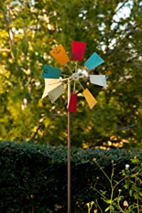 Alpine 52 in. Windmill Garden Stake