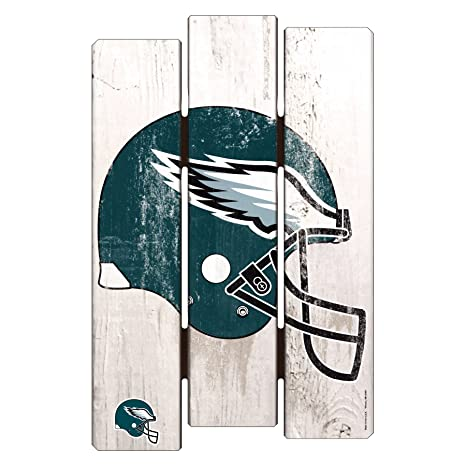 6fe48aeb843 Image Unavailable. Image not available for. Color  NFL Philadelphia Eagles  Wood Fence Sign ...