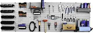 product image for Wall Control 30-WRK-800GB Master Workbench Metal Pegboard Tool Organizer,Gray/Black
