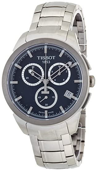 Amazon.com: Tissot Mens T069.417.44.041.00 Quartz Titanium Blue Dial Chronograph Watch: Tissot: Watches