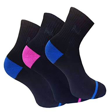 f3f777097 Image Unavailable. Image not available for. Colour  Pringle Women s Pack of  3 Lyndsey Cotton Rich Cushioned Sport Socks UK 4-8 EUR