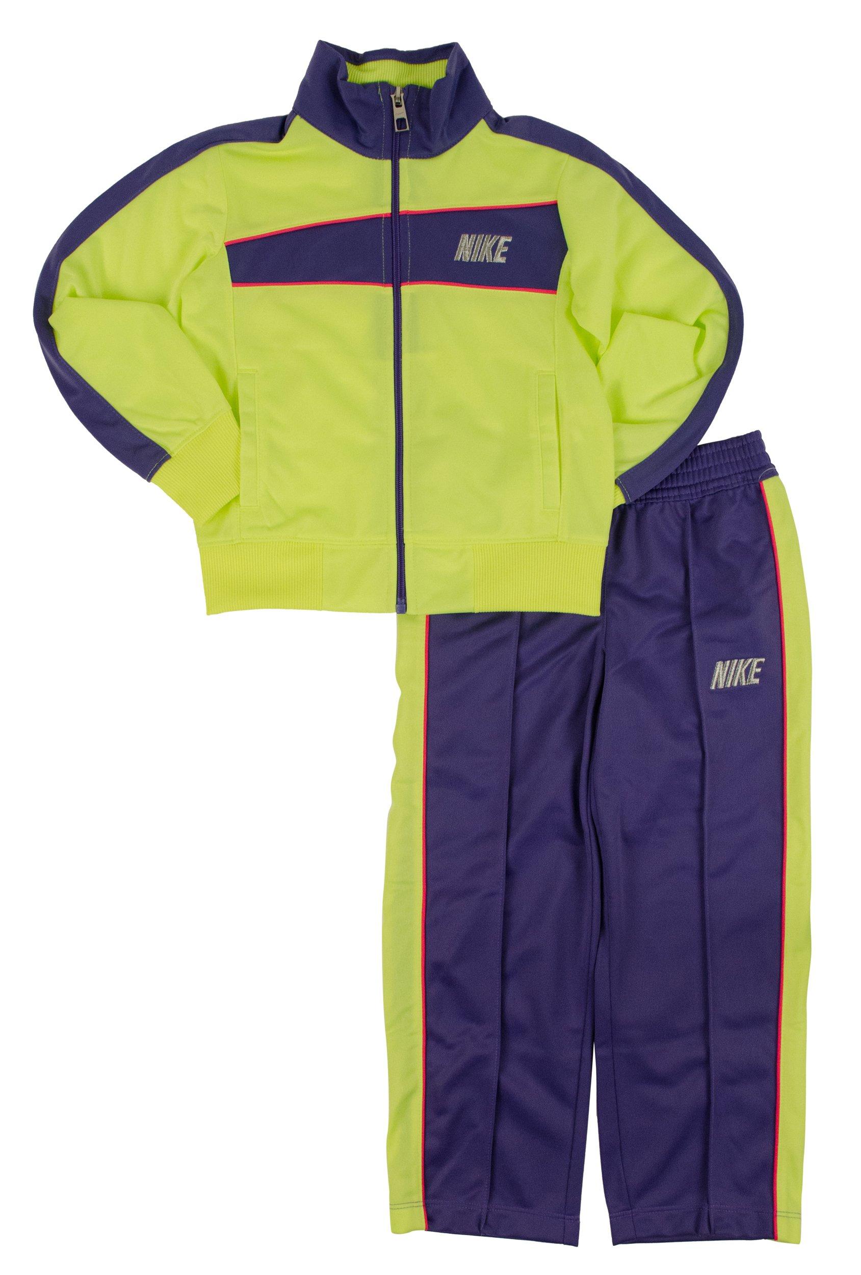 Nike Girls' 2-Piece Colorblocked Tricot Jacket & Pants Set, Purple Haze, 4 by Nike
