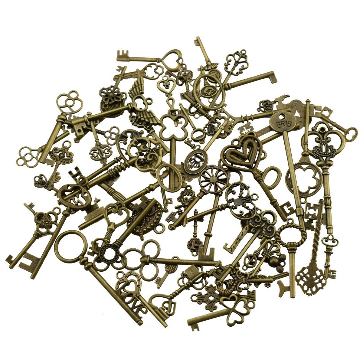 36Pcs Extra Large Antique Bronze Finish Skeleton Keys Rustic Key for Wedding Decoration Favor, Necklace Pendants, Jewelry Making Y2