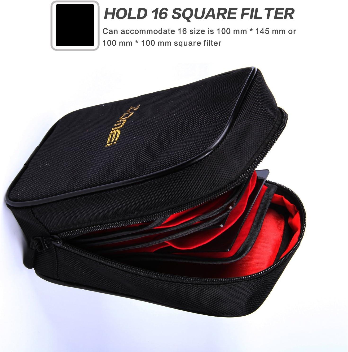 Filtro Zomei 16 bolsillos caso bolsa bolsa cámara tipo billetera para Cokin Z Filtro Cuadrado