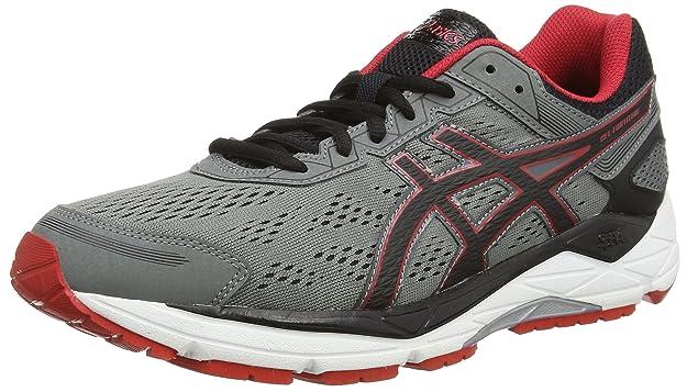 ASICS GEL FORTITUDE 7 T5G2N 1590 Mix Grey Black Red Men Shoes