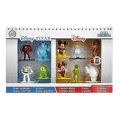 Disney Nano Metalfigs Die-Cast Mini-Figures 10-Pack: Toys & Games