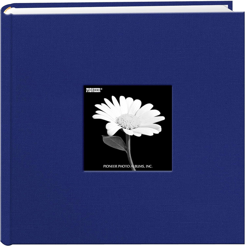Fabric Frame Cover Photo Album 200 Pockets Hold 4x6 Photos, Cobalt Blue