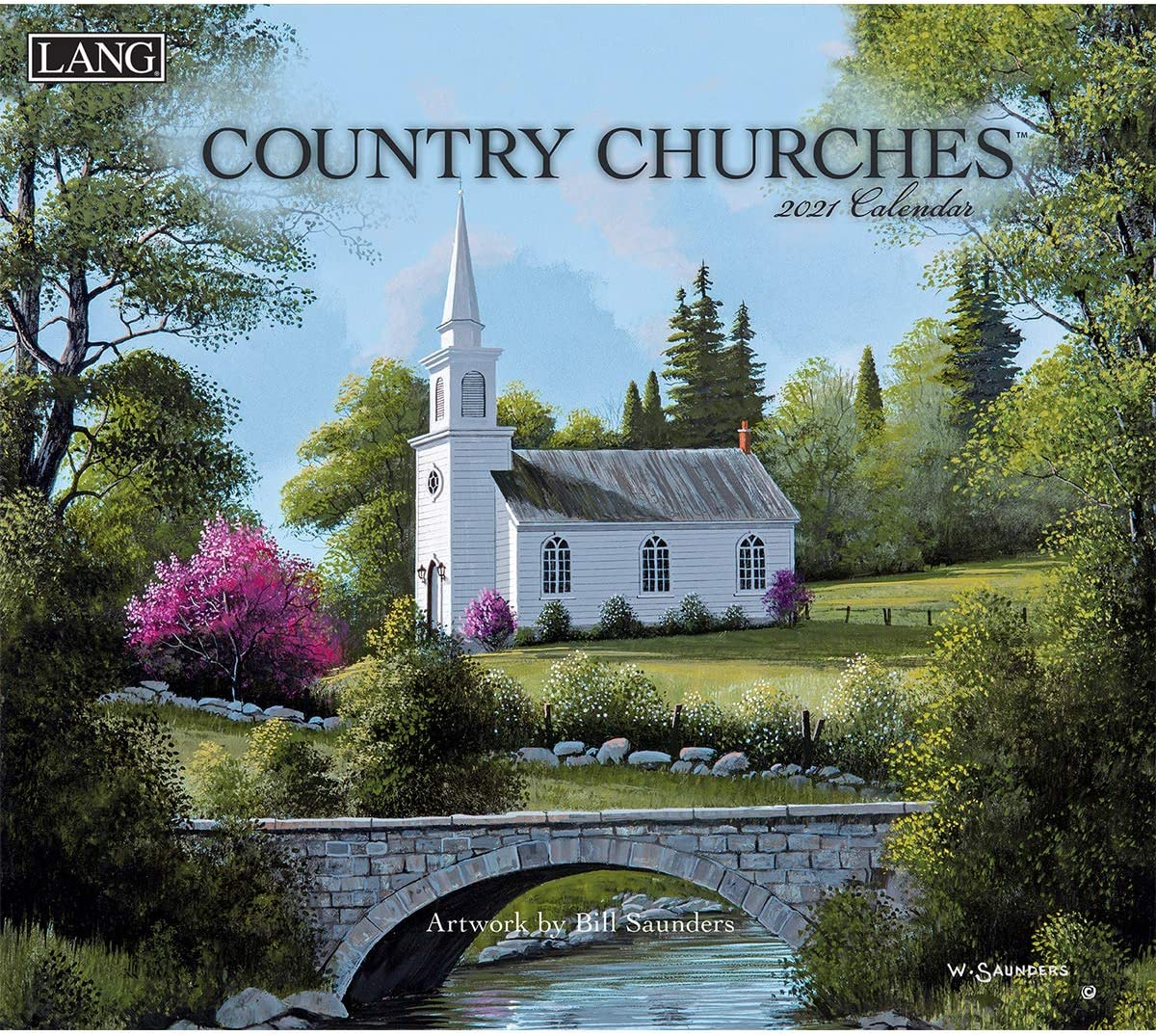 Lang Country Churches 2021 Wall Calendar (21991001904)
