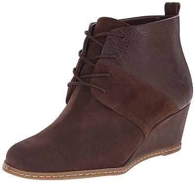 2824cf860268f Amazon.com   Franco Sarto Women's Albi Wedge Bootie, Chocolate Suede ...