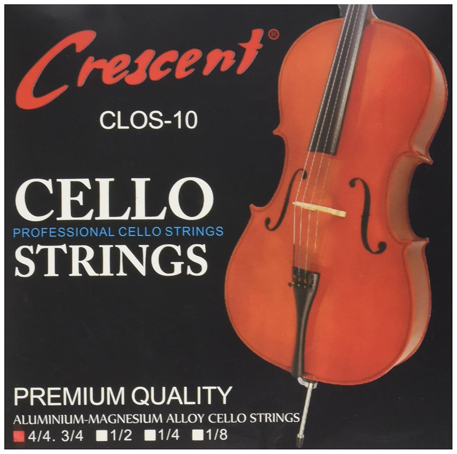Nickel Silver Wound Cello Strings 4/4 Set Crescent 003986