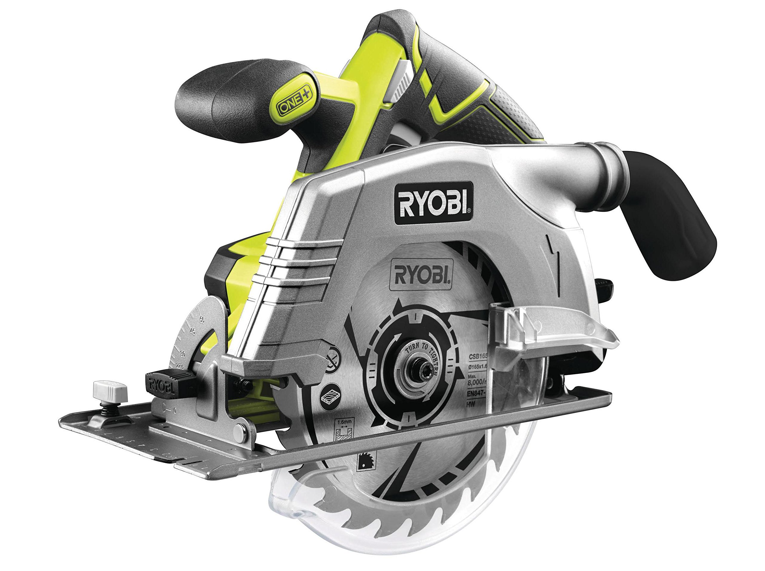 Ryobi ONE+ 18V 165mm Circular Saw 18 Volt Bare Unit R18CS-0 by Ryobi