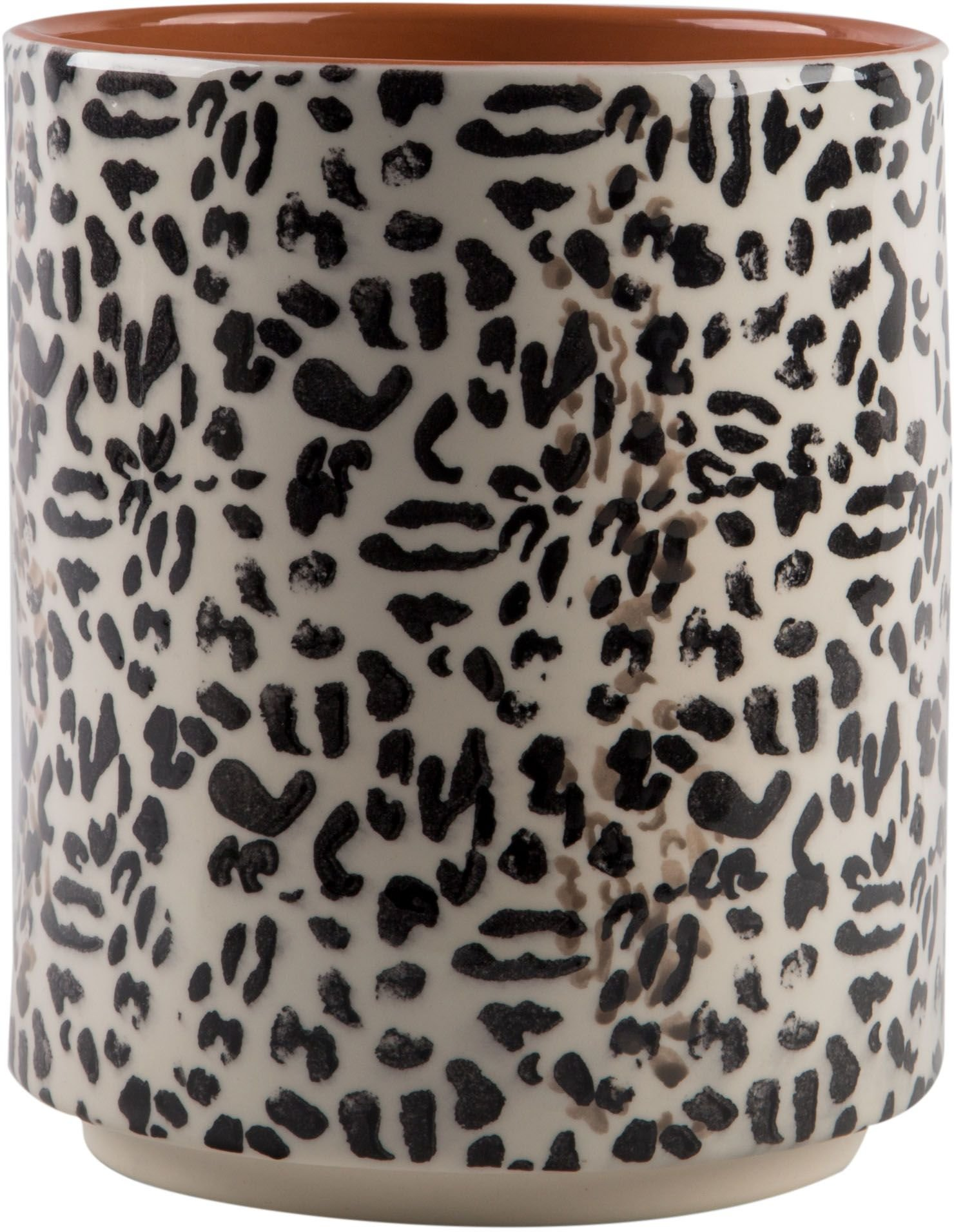 Modern Utensil Container- Utensil Country Crock Black and White animal print