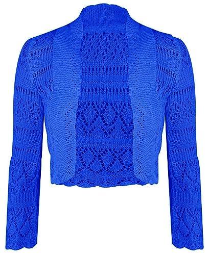 Comfiestyle - Torera - para mujer azul azul cobalto Talla única regular