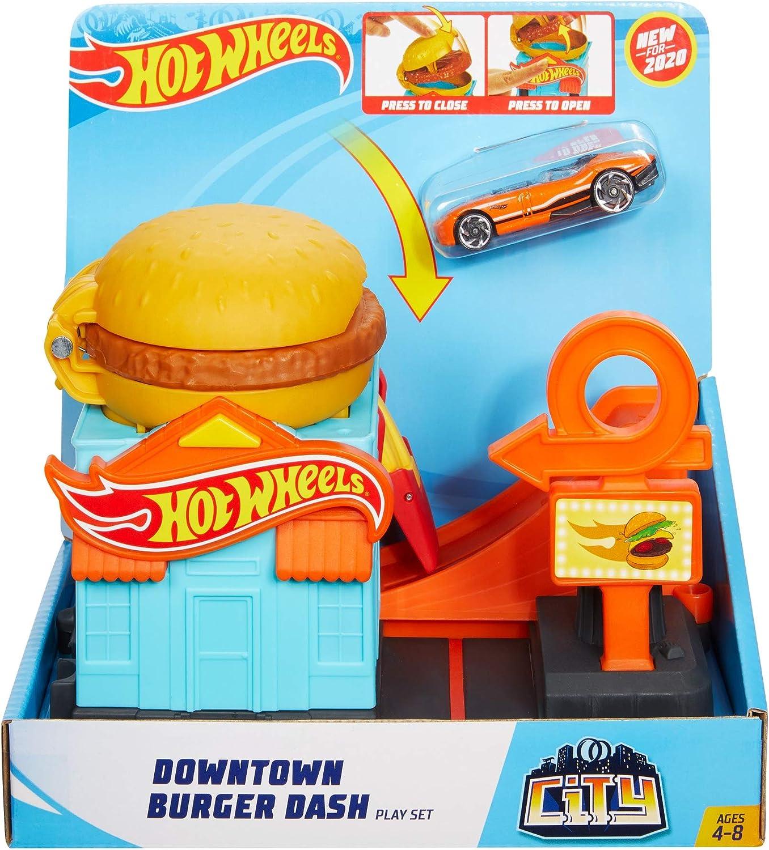 Hot Wheels City Hambugueseria Pista de Coches de Juguete (Mattel ...