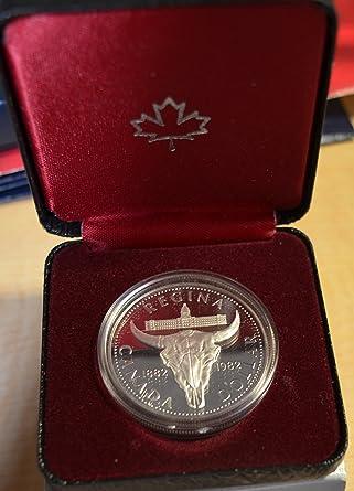 1982 CA Canada Silver Dollar Regina Centennial in the Box $1