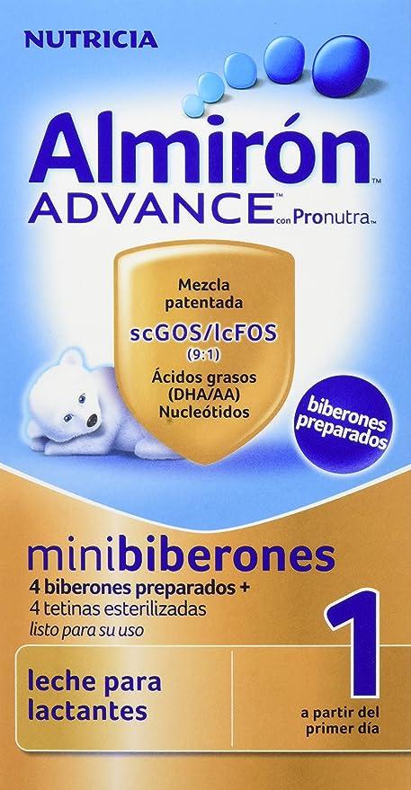 Almirón Advance Leche en Polvo, 1 Minibiberon Desde 0 meses - 4 Unidades