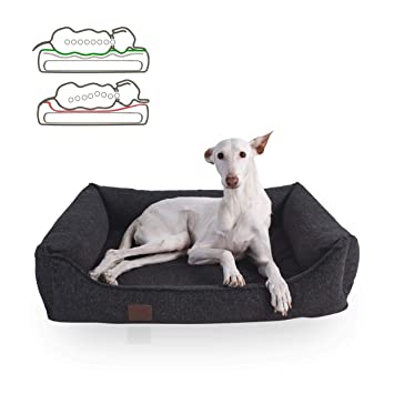 Doggy Fit orthopädisches Cama para Perros Tessa, Easy Clean de Tejido, Color Gris Oscuro: Amazon.es: Productos para mascotas