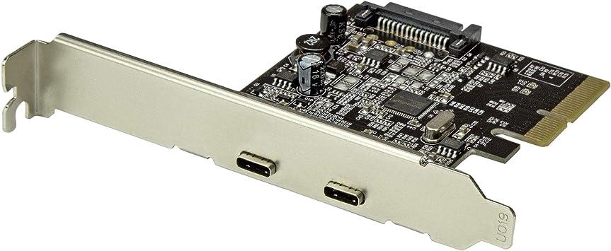 PCI Express Card Bracket w// 15-pin SATA Power 2-Port USB 3.1 Type C