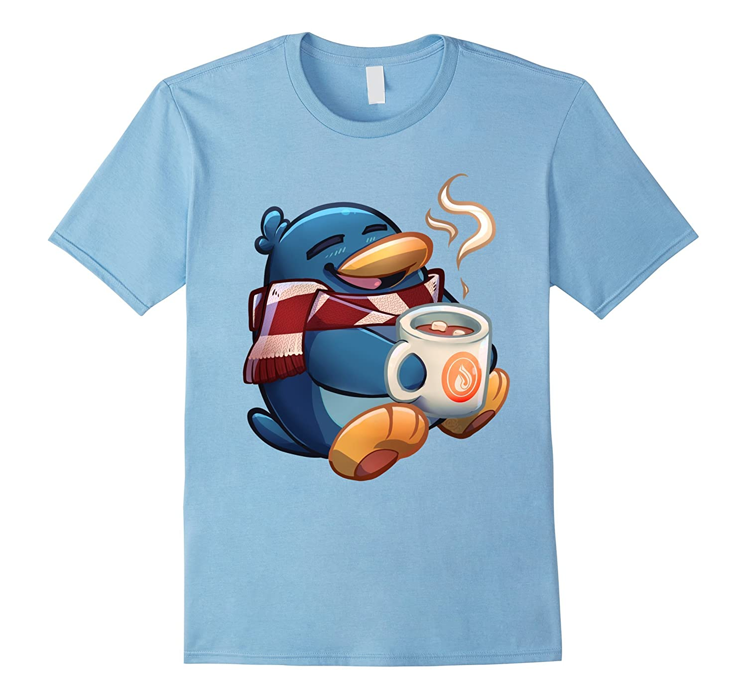 Mens Cute Penguin T Shirt Royal-Xalozy