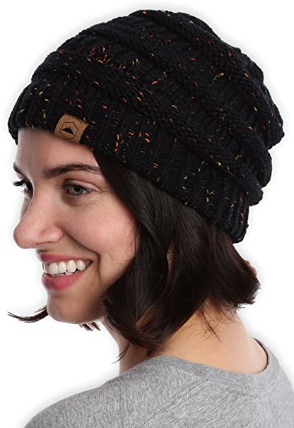 Amazon.com   Tough Headwear Cable Knit Beanie - Thick 5e63182bbce