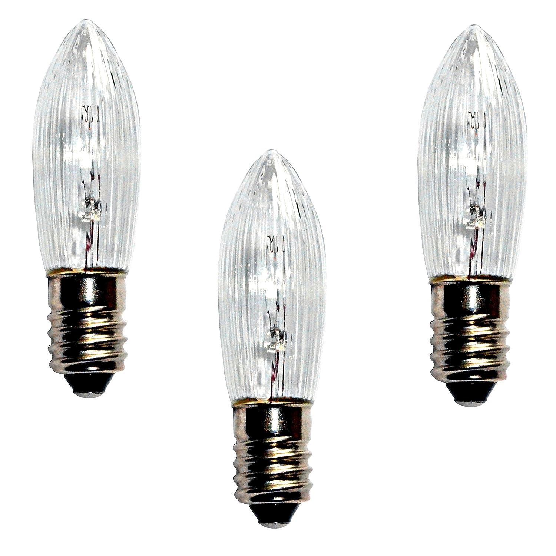 * 3er Set Ersatzbirnen Ersatzlampen f/ür Schwibbogen Lichterbogen