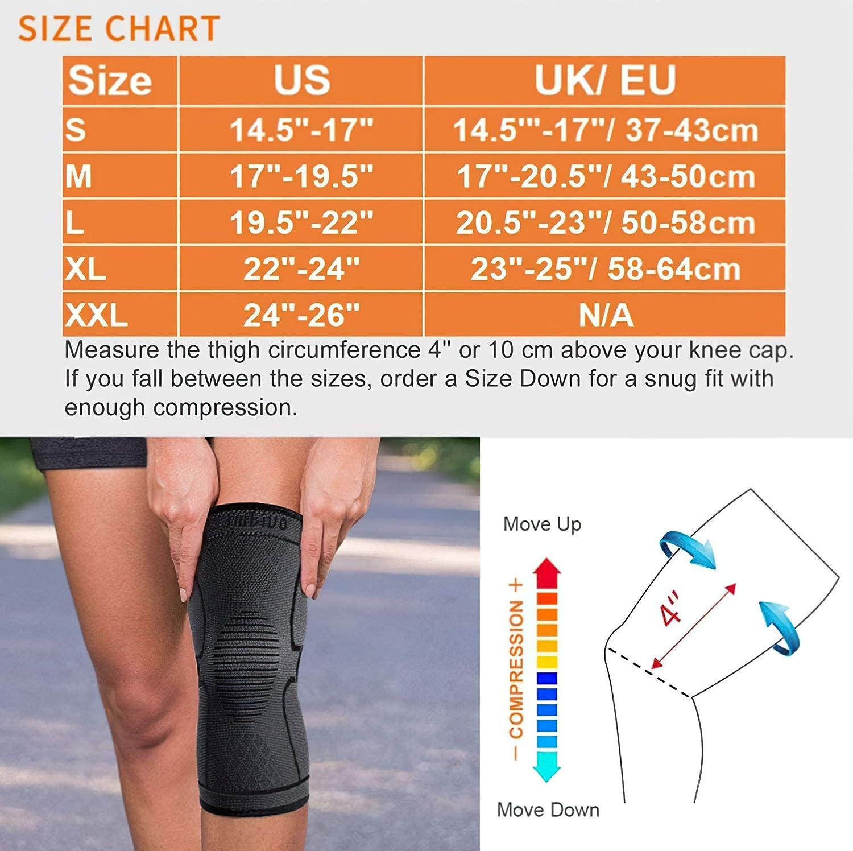 CAMBIVO 2 x Rodilleras Menisco y Ligamento Tendinitis Artrosis Voleibol Rodillera Compresion para Running Rodillera Deportiva para Hombre y Mujer