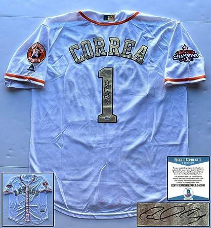 super popular 7078b 2daac Houston Astros Carlos Correa Autographed Signed Memorabilia ...
