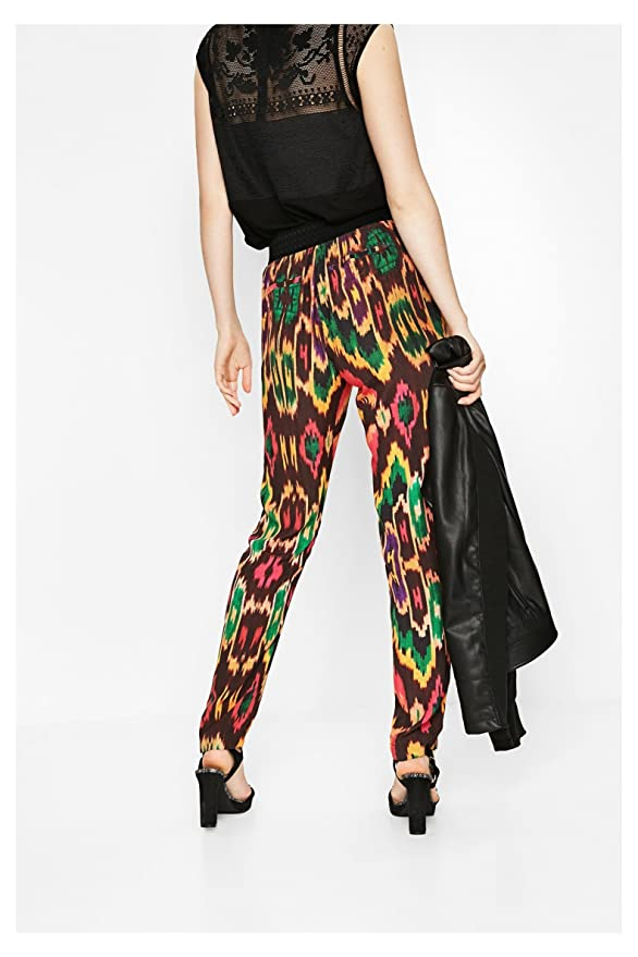 Pantaloni Olass Fantasia Amazon it M Marrone Abbigliamento Donna rHpxRq7wr b6620336ca31
