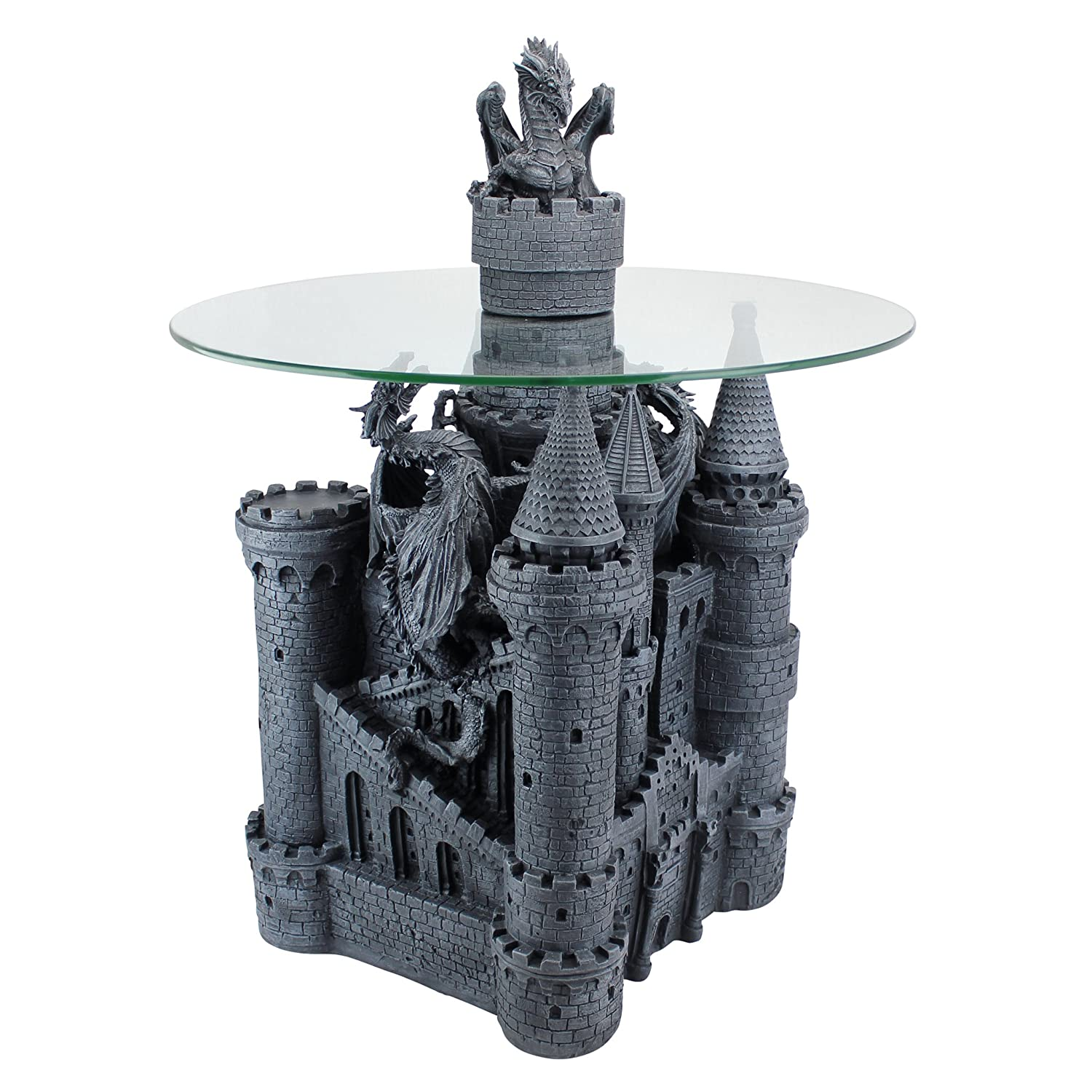 Amazon Design Toscano Lord Langton s Castle Glass Topped