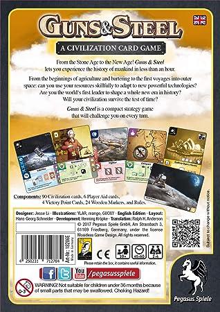 Pegasus Spiele 18286E Guns und Steel A Story of Civilization - Juego de Mesa (edición en inglés): Amazon.es: Juguetes y juegos