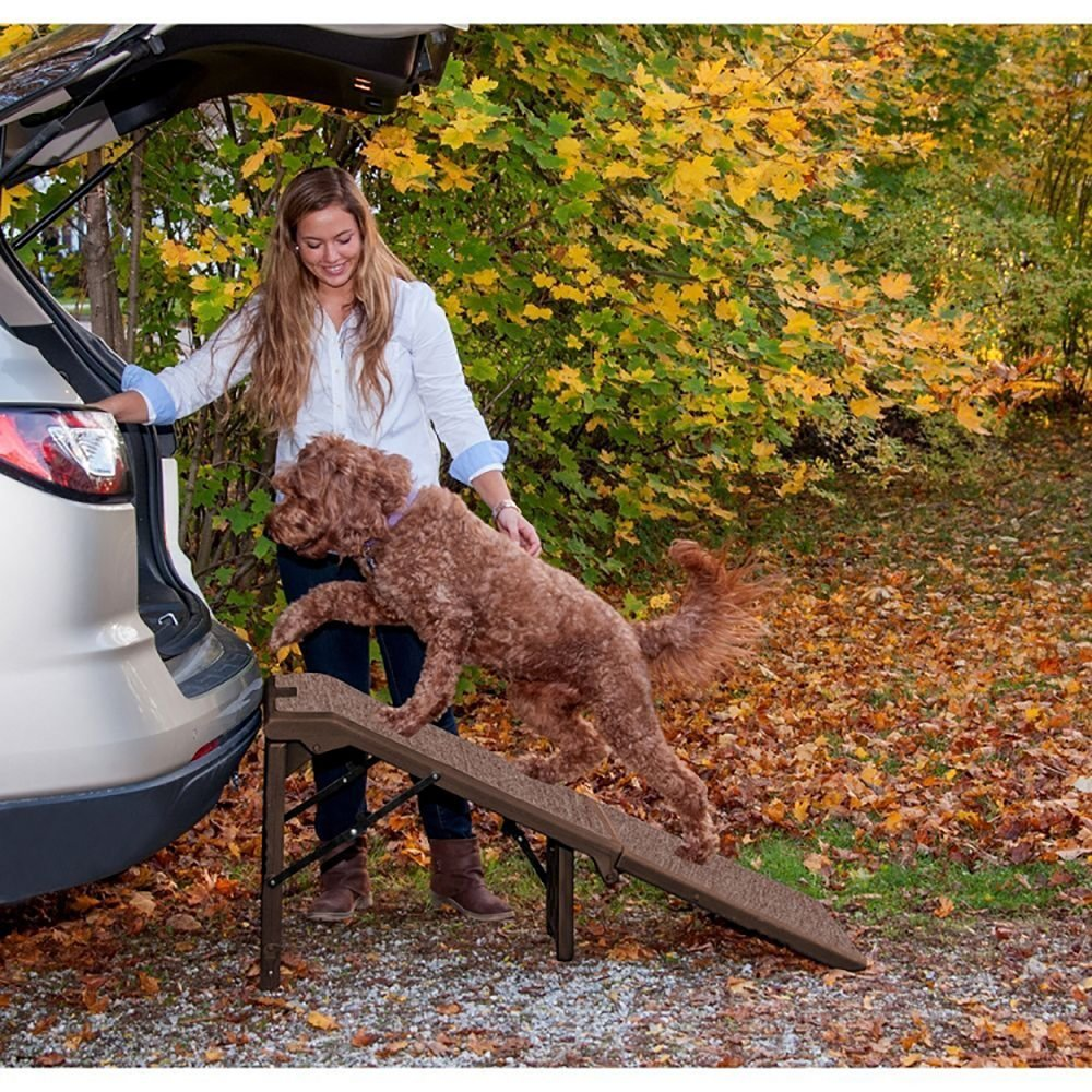 Free-Standing Extra Wide Carpeted Pet Ramp by Pet Gear