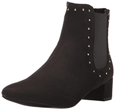 UNIONBAY Women's Blair-s17 Ankle Bootie, Black Suede, ...