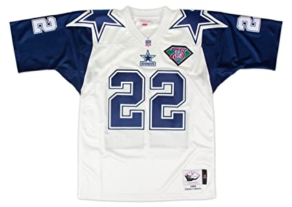 b98eb440d Image Unavailable. Image not available for. Color: Mitchell & Ness Dallas  Cowboys Mitchell & Ness 1994 E. Smith Authentic Jersey White/