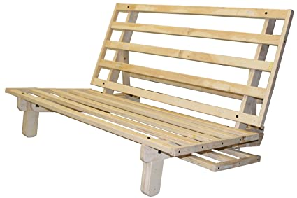 Amazon.com: Houston All Wood Sit, Lounge, or Sleep Futon Frame, Twin ...