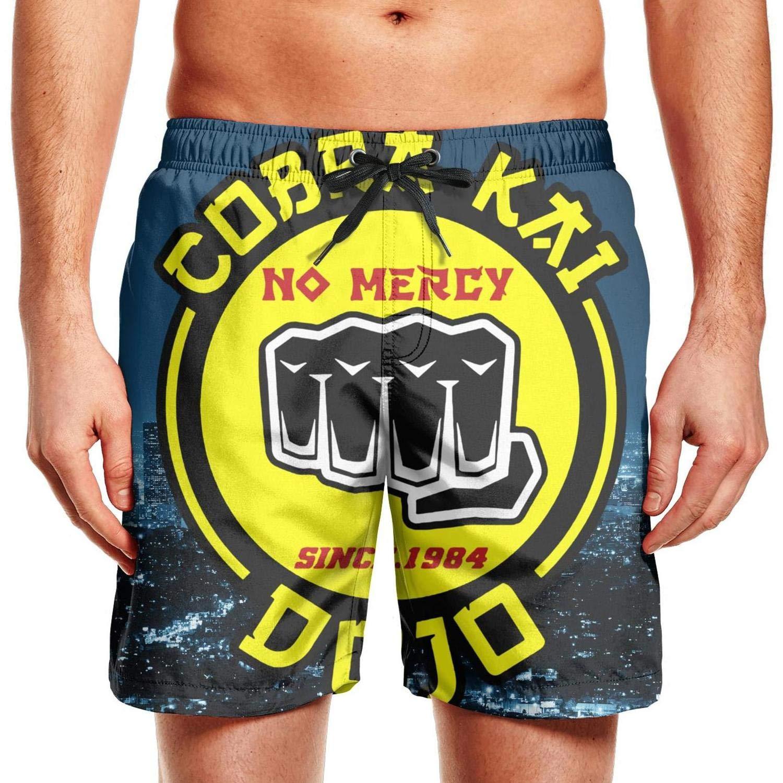Men Medium Length Mens Swimwear BeachCobra Kai Snake Logo No Mercy Fishing with Pockets Beach Shorts