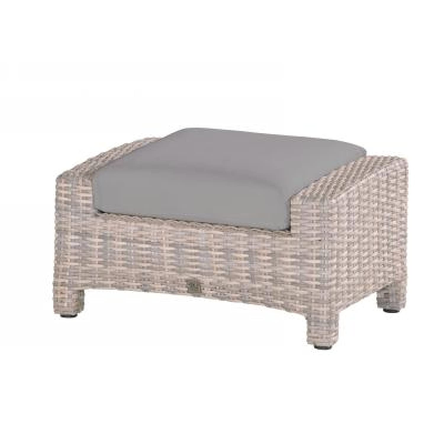 4Seasons Outdoor Fußhocker Mambo inkl Kissen Polyrattan lagun 212197