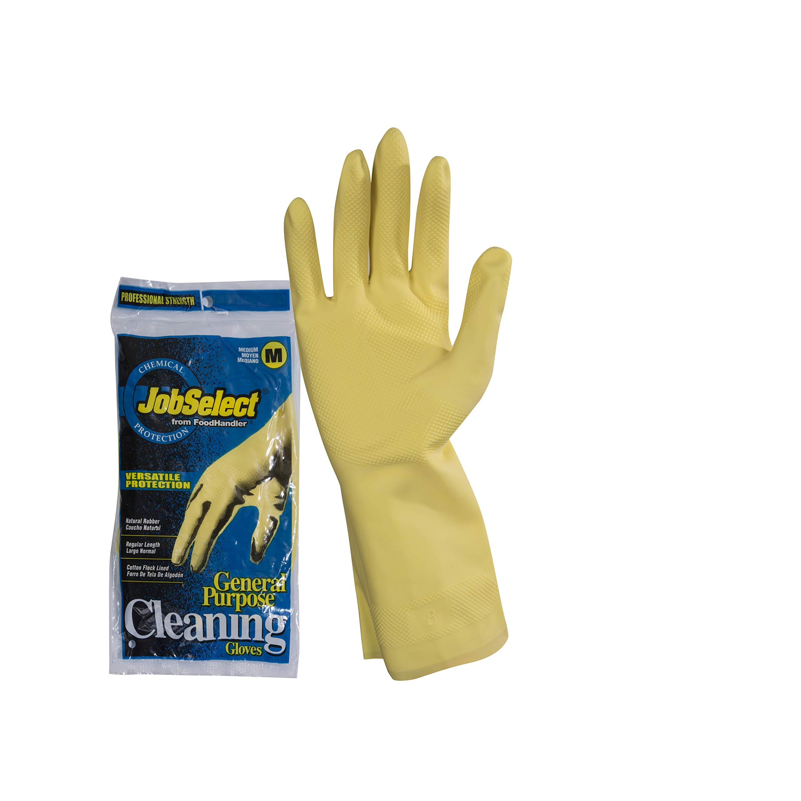 JobSelect 1005-02 JobSelect General Purpose Cleaning, Latex, MD, Yellow (Pack of 144)