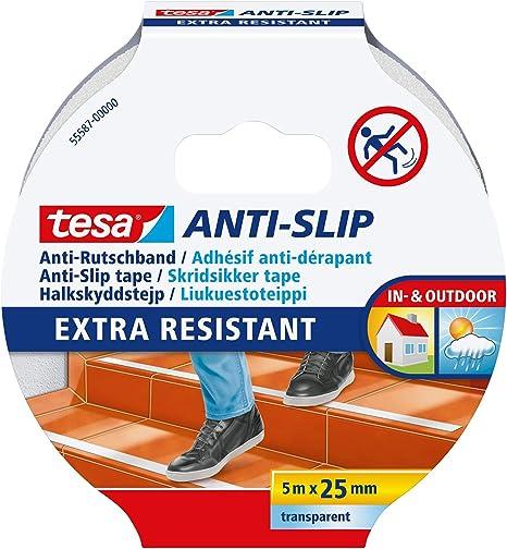 Tesa anti rutschband transparent 5 m x 25 mm 55587-00000