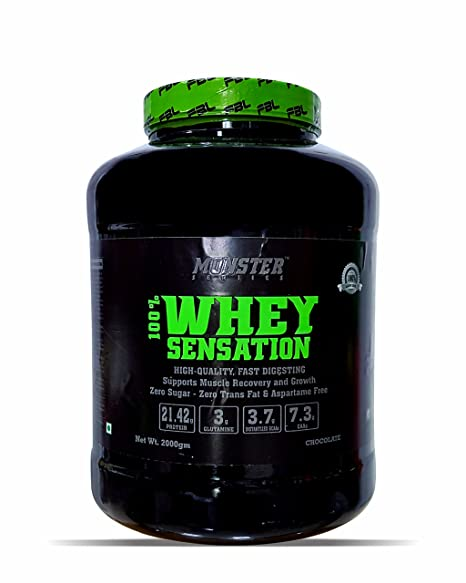 e63d07ea7 Buy Monster Series 100% Whey Sensation 2 kg Online at Low Prices in India -  Amazon.in