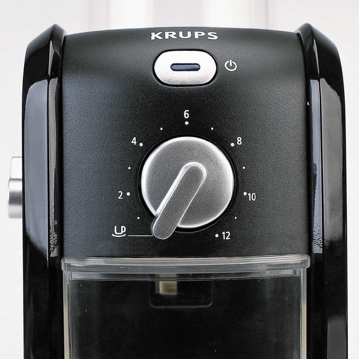 KRUPS GVX1-14 Coffee Grinder with Grid Size and Cup Selection and Stainless Steel Conical Burr, Black by KRUPS