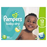 Pampers Baby Dry Diapers Size 5, 160 Count